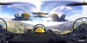 360 Derece Görüntülerle Amerikan Donanmasının Gösteri Timi Blue Angels'ın Uçuşuna Tanıklık Edin!