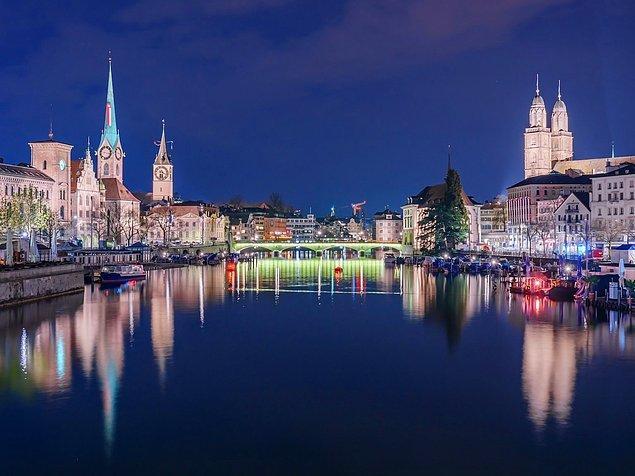 1. Zürih, İsviçre — 5,764$