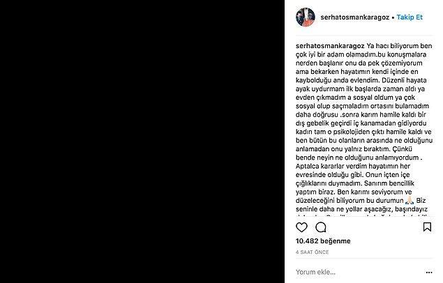 Bugün ise Serhat Osman Karagöz sessizliğini bozdu, Pucca'dan özür dileyerek atlatabileceklerinin sinyalini verdi.