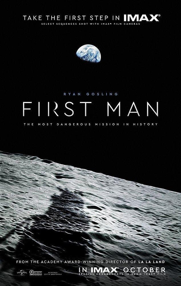 3. Whiplash, La La Land filmlerinin yönetmeni Damien Chazelle'nin Ryan Gosling'li Neil Armstrong biofilmi First Man'in ilk posteri yayınlandı.