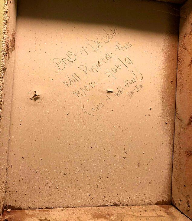 18. Duvarda 1981 yılından kalma bir not.
