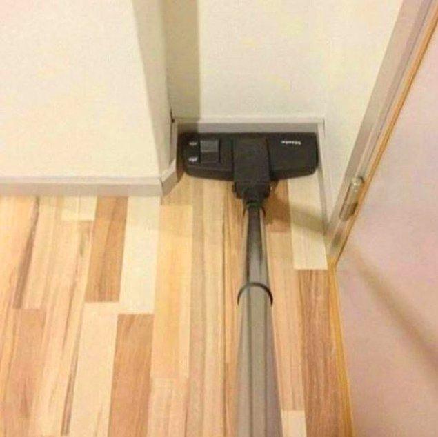 12. Köşe bucak tüm evi tek başına temizleyince...