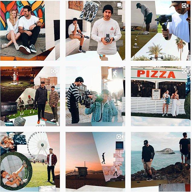 13. Casey McPerry'nin Instagram hesabındaki bütün fotoğraflar bu şekilde birbirine bağlı!