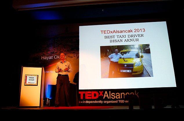 İhsan Abi son olarak 2013 yılında Ted-x'te konuşma yaptı. Hayat Okulu'nda yer aldığı konuşmada hem azmi ile izleyenleri etkiledi hem de esprileri ile salonu kırdı geçirdi.