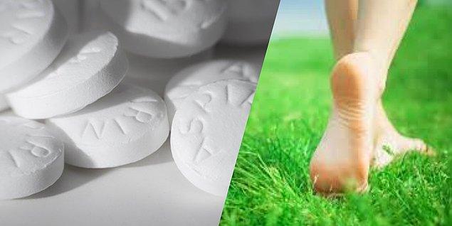 4. Aspirin nasırları temizler.