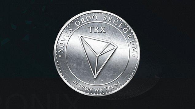 10. TRON (Pazar payı: 3.9 Milyar Dolar)