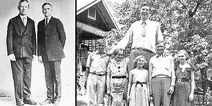 2.72'lik Boyu ile Tarihin Bilinen En Uzun Boylu İnsanı Olan Robert Wadlow'un 1930'larda Kaydedilen Görüntüleri