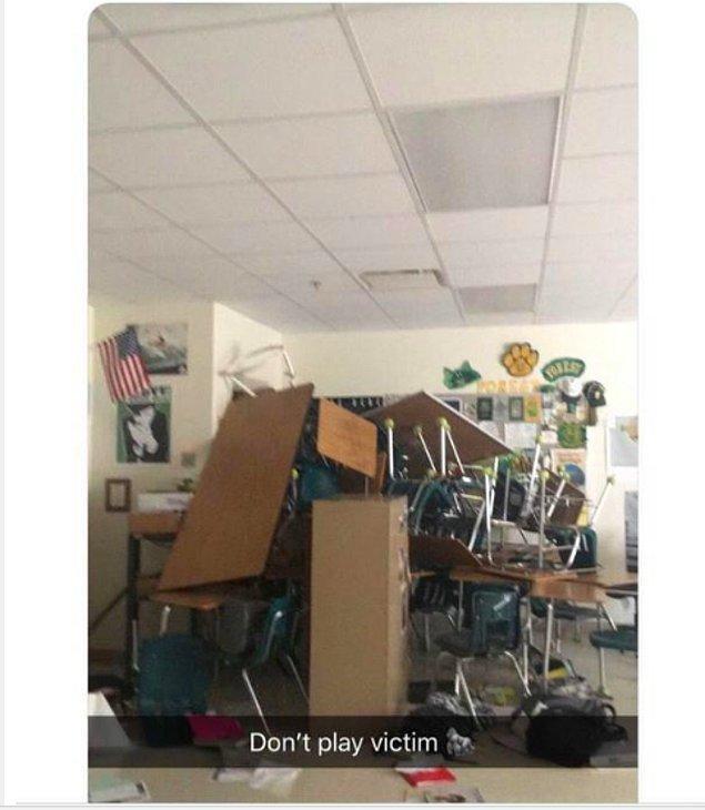 İlk bakışta normal bir fotoğrafı andırsa da liseye giren ve her yere ateş eden korkutucu bir saldırganın paylaştığı hikâyesi.