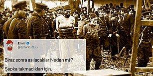 Balkan Savaşları'nda İdam Edilen Türkleri 'Atatürk'ün Şapka Kanunu'na Uymayanlar' Diyerek Paylaştı, Twitter Karıştı!
