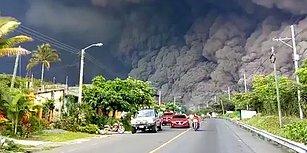 Guetemala'daki Fuego Yanardağı'nın Patlamasıyla Oluşan Kül Bulutlarından Kaçan İnsanların Korku Dolu Anları