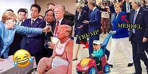 "Merkel'in Trump'a ""Posta Koyduğu"" Fotoğraf Sosyal Medyada Alay Konusu Oldu!"