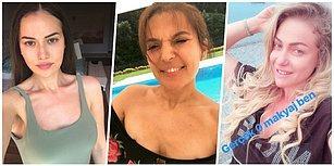 No Make Up, No Filter, No Dr.! Son Zamanlarda Fahriye Evcen ile Başlayan Makyajsız Selfie Akımına Katılan Ünlüler