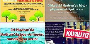 Belediyelerden Tatilcilere Mesaj Var: '24 Haziran'da Boy Vermeyin, Oy Verin'