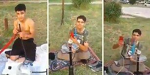 Vatandaştan Sahilde Nargile Keyfi Yapan Suriyelilere Tepki: 'Sizin Yaşınızdaki Türk Gençleri Sizin İçin Şehit Oluyor'