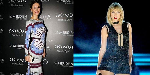 2. Bergüzar Korel mi yoksa Taylor Swift mi daha uzun?