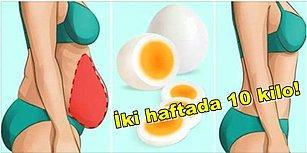 İki Haftada 10 Kilo! Haşlanmış Yumurta Diyetiyle Sağlıklı Kilo Verebileceğinizi Biliyor muydunuz?