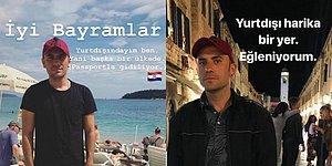 Pasaportuyla Birlikte Yurt Dışında Romantik Bir Tatile Çıkan Giray Altınok'un Kahkaha Krizine Sokan 16 Paylaşımı