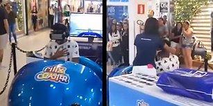 Sanal Gerçeklik Gözlüğüyle Roller Coaster Deneyimi Yaşayan Gencin Korkuyu İliklerine Kadar Hissettiği Anlar