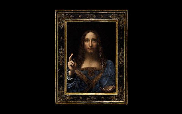 'Dünyanın kurtarıcısı' anlamına gelen Salvator Mundi, tasvir ettiği İsa Peygamber'in ifadesinden ötürü 'Erkek Mona Lisa' olarak da adlandırılıyor