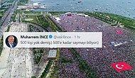 İnce, Erdoğan'ın 'Mitingde 500 Kişi Yok' Sözlerine Twitter'dan Yanıt Verdi: '500'e Kadar Saymayı Biliyor'