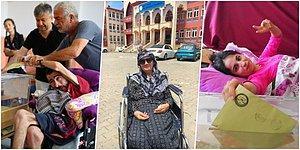 Sandık Başına Gitmek İçin Engel Tanımayan Hasta, Yaşlı ve Engelli Vatandaşların Demokrasi Mücadelesi