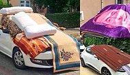 Geleneksel Dolu Öncesi Arabayı Nesnelerle Sarma Sanatını İcra Eden Vatandaşlar