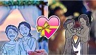 Alışılmışın Dışına Çıkarak Düğün Fotoğraflarını Çizimlerle Daha Tatlı ve Eğlenceli Hale Getiren Çift: Abang ve Neng!