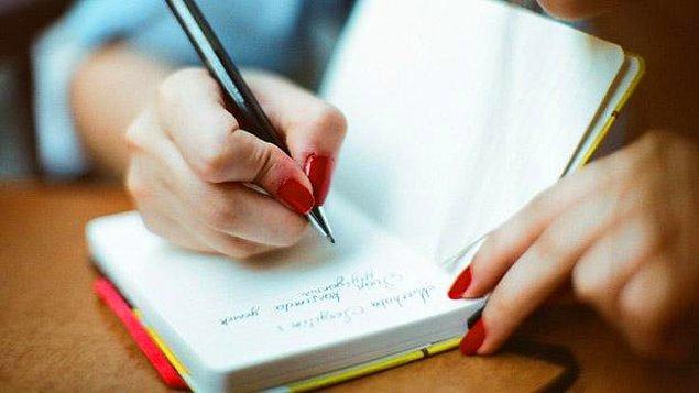 8. Hislerinizi bir kağıda dökün!
