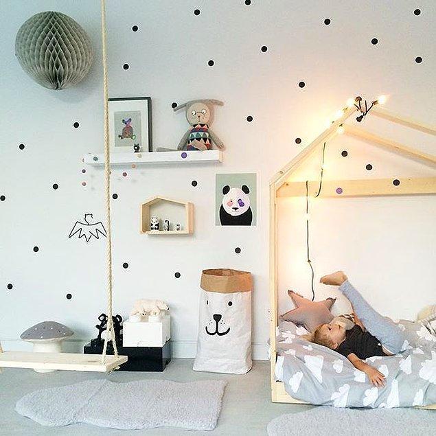 31. Her çocuk odası aşırı renkli ve kalabalık olmak zorunda değildir.