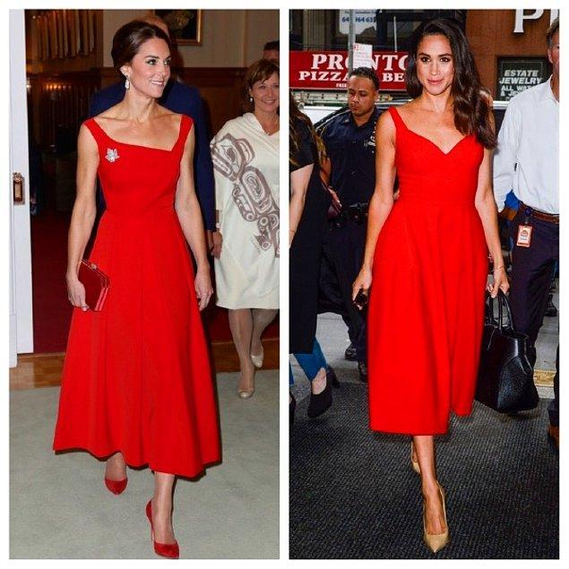 2016 yılında katıldıkları farklı etkinliklerde ikisininde tercihi kırmızı elbiseden yana oldu.