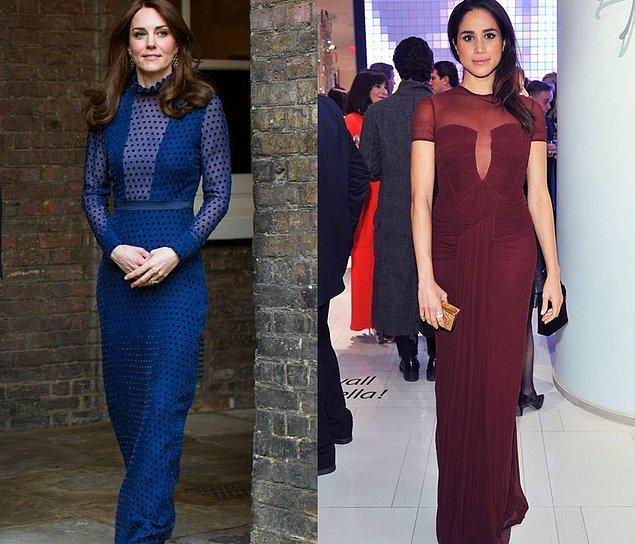 Bu sefer kıyafet tercihleri birbiriyle benzerlik göstermese de dekolte tercihleri aynı...