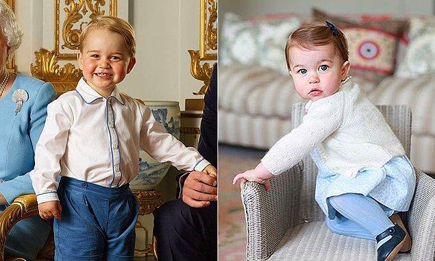 Prens George ile Prenses Charlotte'ın şu tatlış minik hallerine bakar mısınız?