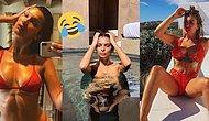 """Instagram Güzellerinin ve Ünlülerin Yeni Gözdesi Tartışmalı """"Amanın Migrenim Tuttu!"""" Pozu"""