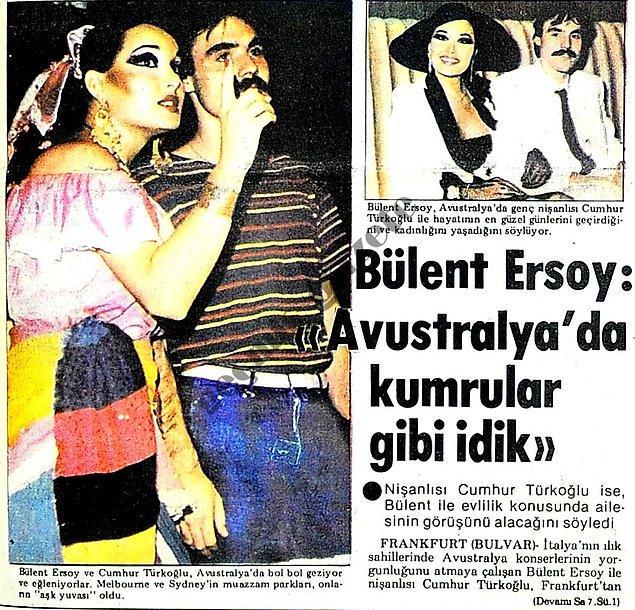 1983 (Bulvar): Bülent Ersoy'un, nişanlısı Cumhur Bey ile turnede dolu dizgin aşk yaşaması