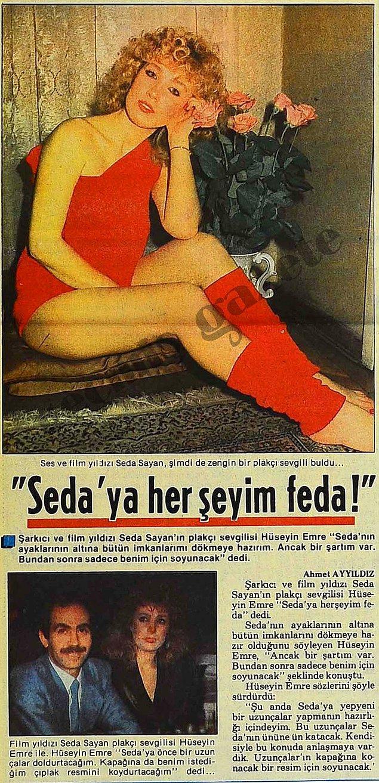 1985 (Tan): Seda Sayan'ın yeni çıkacak albümüne, plakçı sevgilisi tarafından çıplak fotoğrafının konulacağını söylenmesi