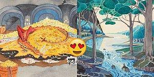 Yüzüklerin Efendisi Serisinin Yazarı J. R. R. Tolkien'in Orta Dünya'sına Adım Atmanızı Sağlayacak Çizimler