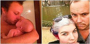 Yeni Doğan Kızını Dudağından Öptüğü Fotoğrafı Paylaştığı İçin Pedofil Olmakla Suçlanan Baba