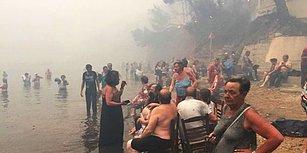 Yunanistan'daki Yangın Felaketinin Tanıkları Anlatıyor: 'Denize Kaçanlar Bile Kurtulamadı'