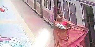Elbisesi Trene Takılan Kadının Ölümle Burun Buruna Geldiği Korku Dolu Anlar
