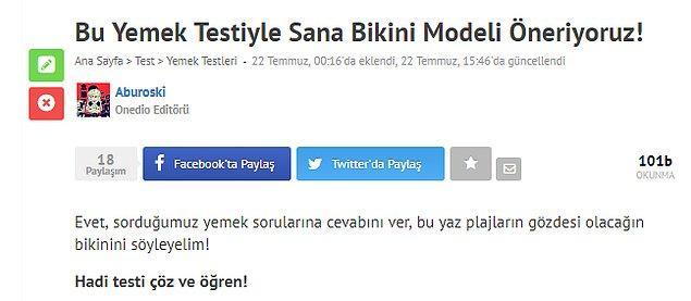 13. Bu Yemek Testiyle Sana Bikini Modeli Öneriyoruz!