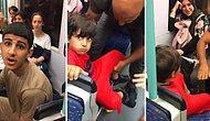 Rahatsız Olduğu İçin Çocuğun Çok Ses Yaptığını Ailesine Söyleyen Gencin Tramvayda Uğradığı Hakaret Yağmuru
