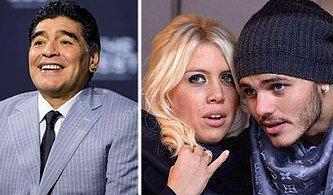 Büyük Seks Skandalı: Mauro Icardi'nin Karısı Wanda Nara, Diego Maradona İle Aşk Yaşıyor!