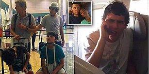 Emirates Havayolu Şirketi Çalışanları Engelli Bir Genci Ailesiyle Beraber Uçaktan İndirdi!