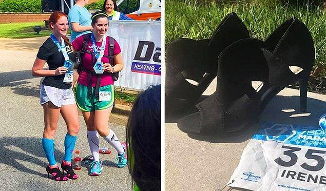 1. Topuklu ayakkabılarla maraton koşmak!