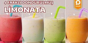 Kavrulan Sıcaklarda İçinize Buz Küpleri Yağdırmaya Geldiler! 4 Farklı Dondurulmuş Limonata Nasıl Yapılır?