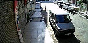 Sokakta Yürüyen Kadına Arkadan Tekme Atan Vicdansız Motorcu