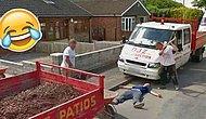 Google Maps Kamerasını Görünce Trollemeden Bırakmayan ve Korkunç Bir Şaka Hazırlayan İşçiler