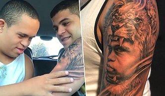 Yüzünü Kardeşinin Kolunda Dövme Olarak Gören Down Sendromlu Gencin Tarifsiz Mutluluğu