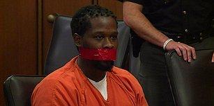 Uyarılara Rağmen Konuştuğu İçin Mahkeme Salonunda Ağzı Bantlanan Mahkum