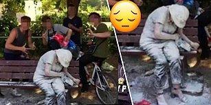 İnsanlık Öldü: Vicdansız Gençler Parkta Kendi Halinde Oturan Engelli Kadına Yumurta ve Un ile Saldırdılar